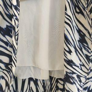 Anthropologie Skirts - Leifsdottir Inked Antonia High Low Silk Skirt